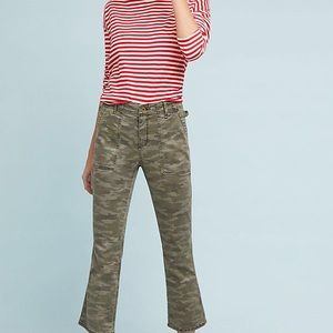 Anthropology Cropped Camo Utility Pants